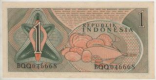 uang kuno, Indonesia,uang, koleksi,Rp, Uang Kuno,koin, mata uang, Seri,kertas, seri, Koleksi, Museum, harga,1 Rupiah Sandang Pangan