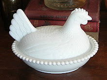 Milk Glass Hen