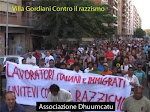 CONTRO IL RAZZISMO : manifestazione al quartiere Prenestino