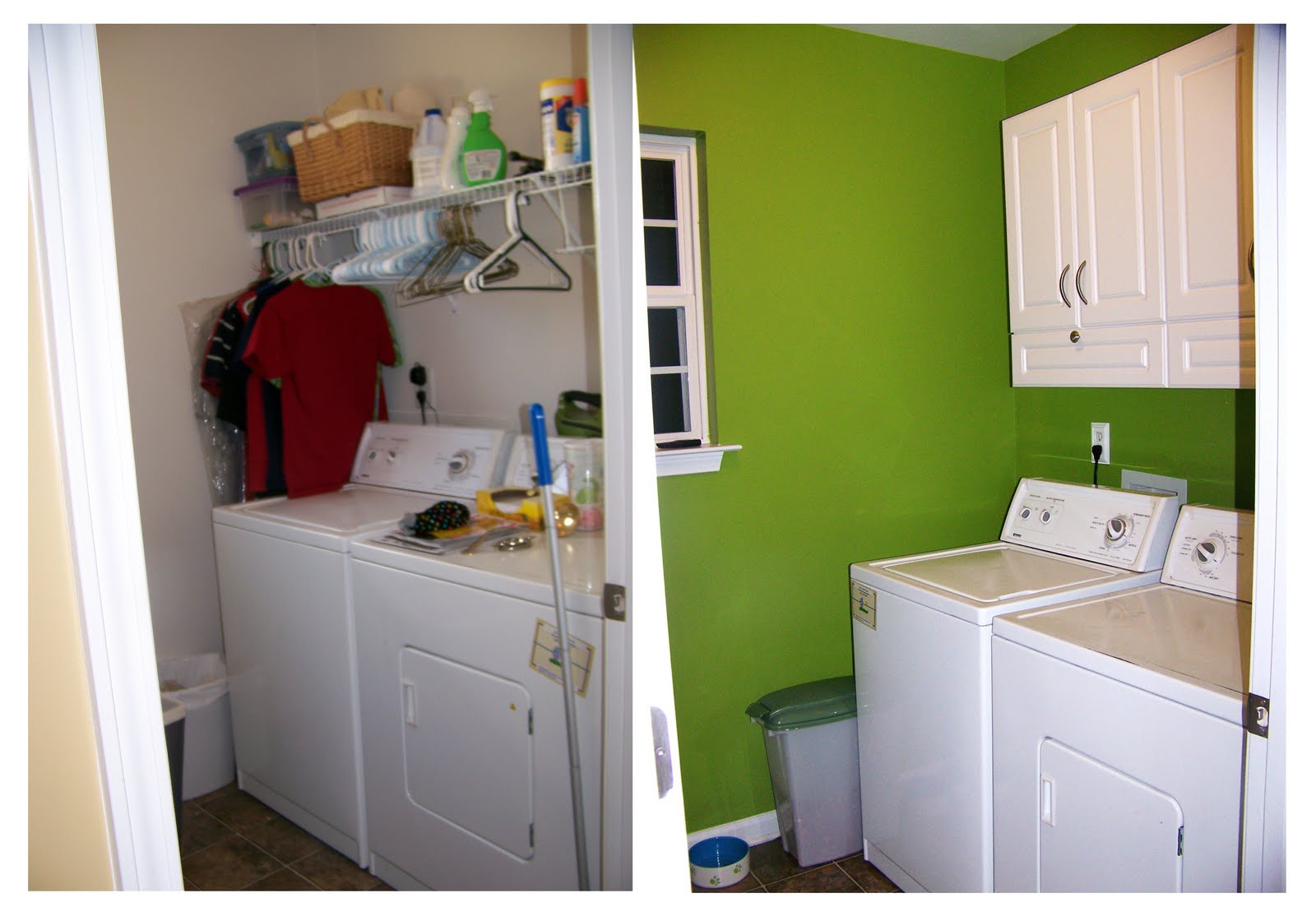 chronicles of a southern scrapper: before + after {laundry room