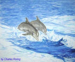 Lukisan dua lumba-lumba