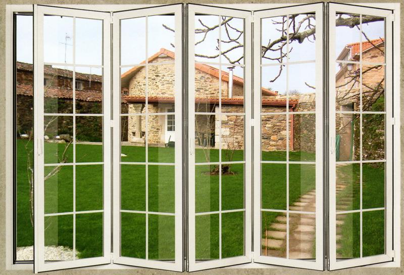 Cocinas decor raen ventanas y puertas de aluminio for Puerta plegable aluminio