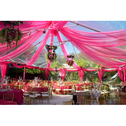 wedding ceremony tent decoration