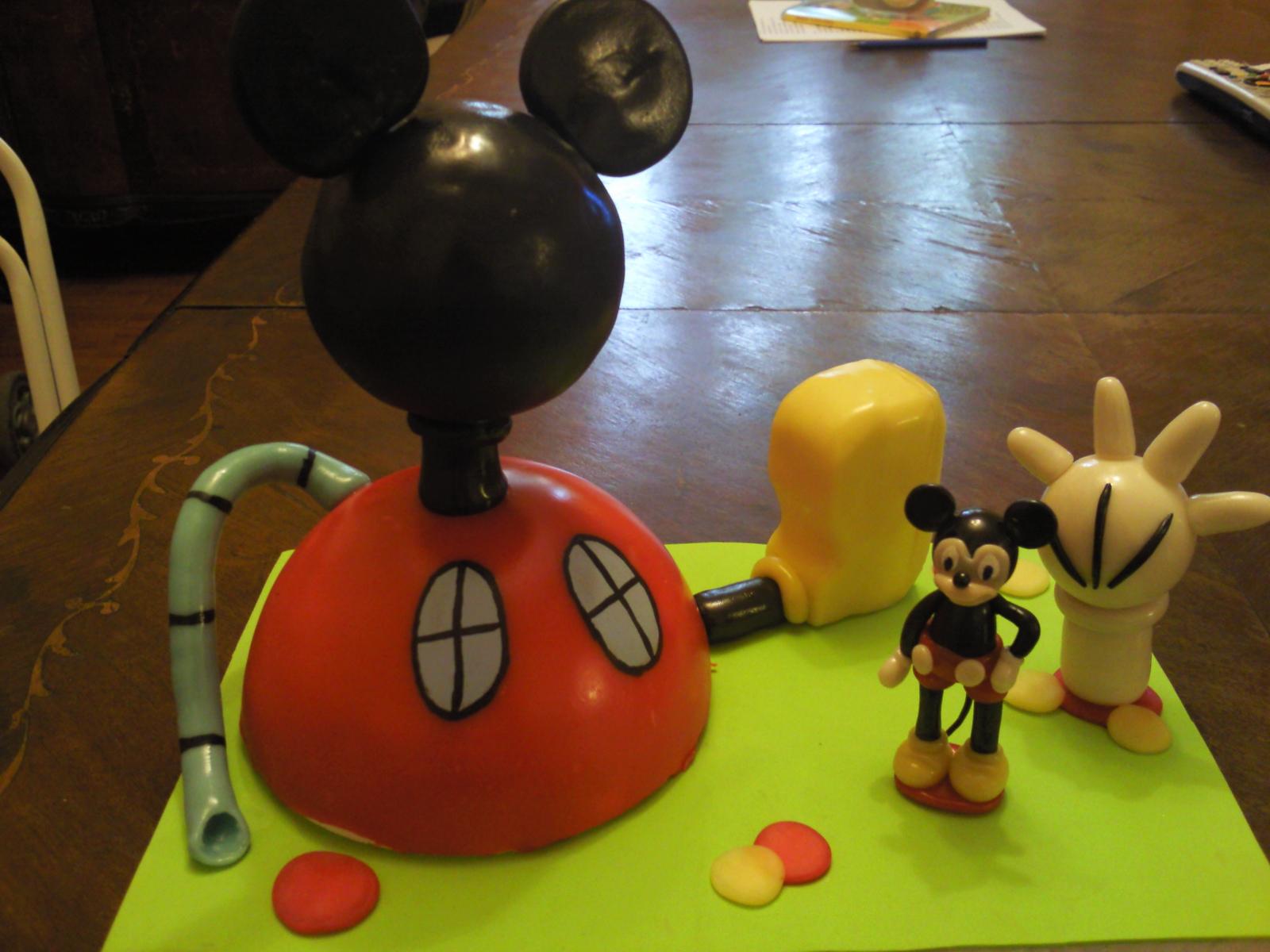 adorno para torta de la casa de mickey mouse