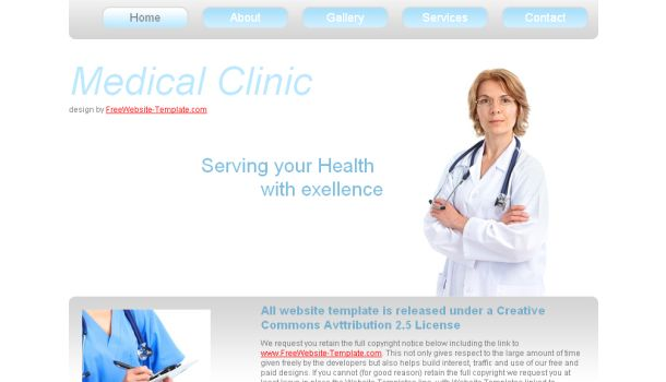 Medical Clinic HTML Website Template