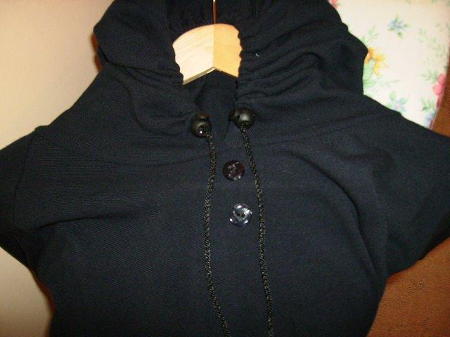 Hoody Black Jump Abaya
