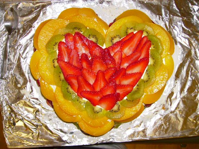 Love Heart Anniversary Cake