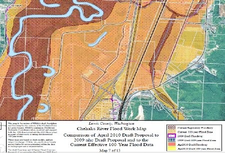 FEMA map 7-Chehalis-Centralia Airport. Click map for 15 Lewis County FEMA maps (52MB)