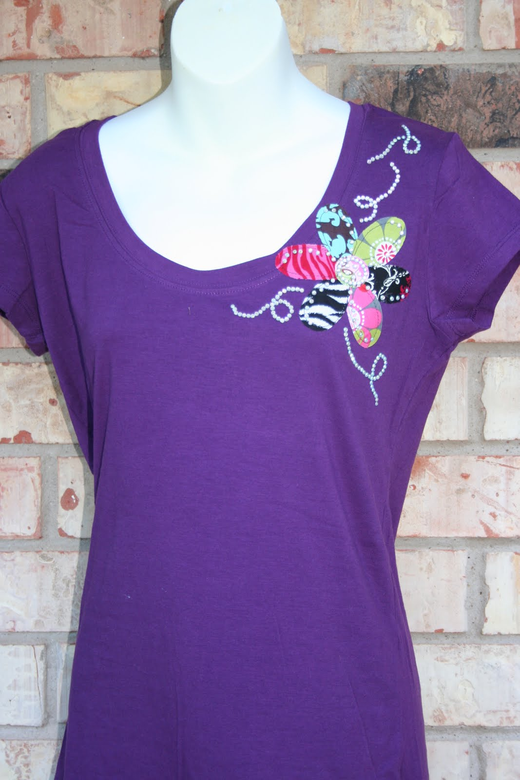 Lojic Designs Design Your Diva Flower Power T Shirt