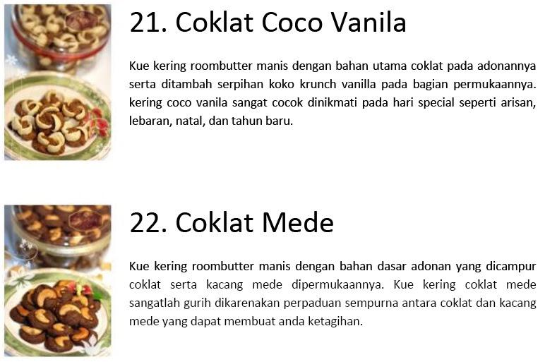 Samarinda Kue Murah: COKLAT COCO VANILA , COKLAT MEDE
