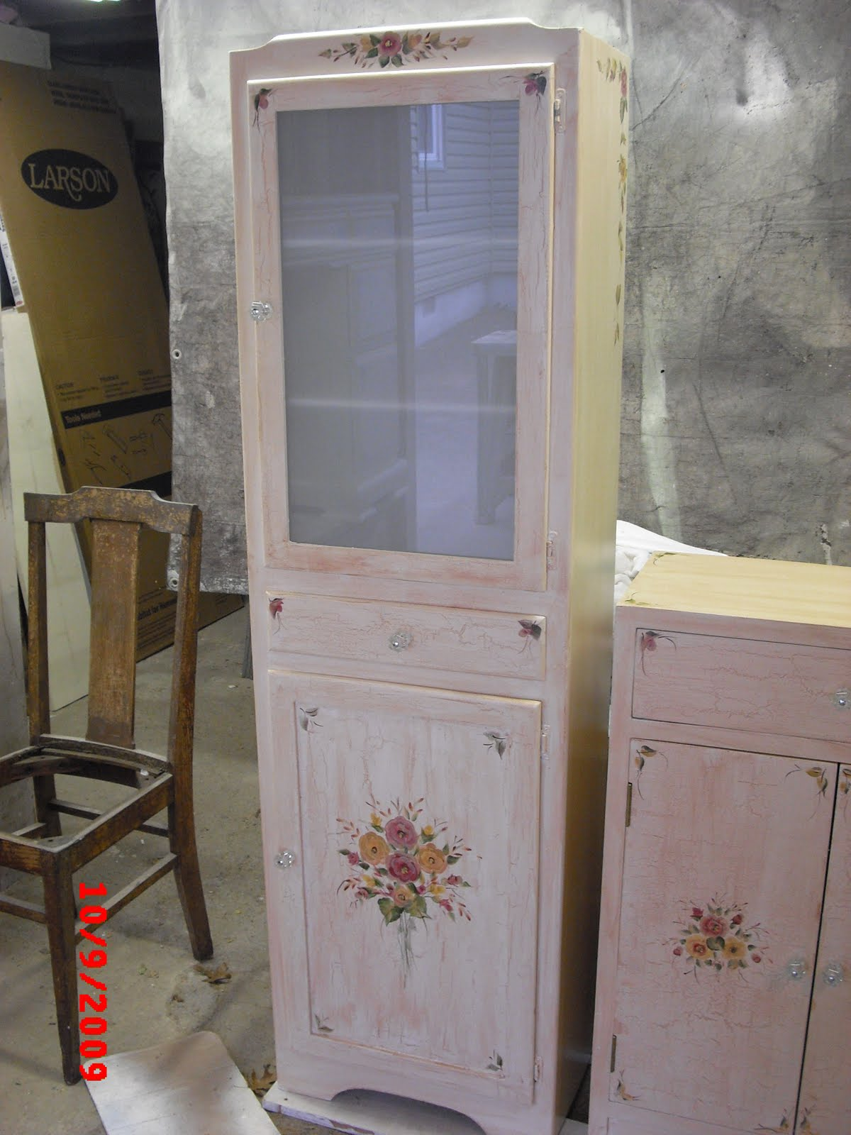 Did this old kitchen pantry and turned it into a storage cabinet. How