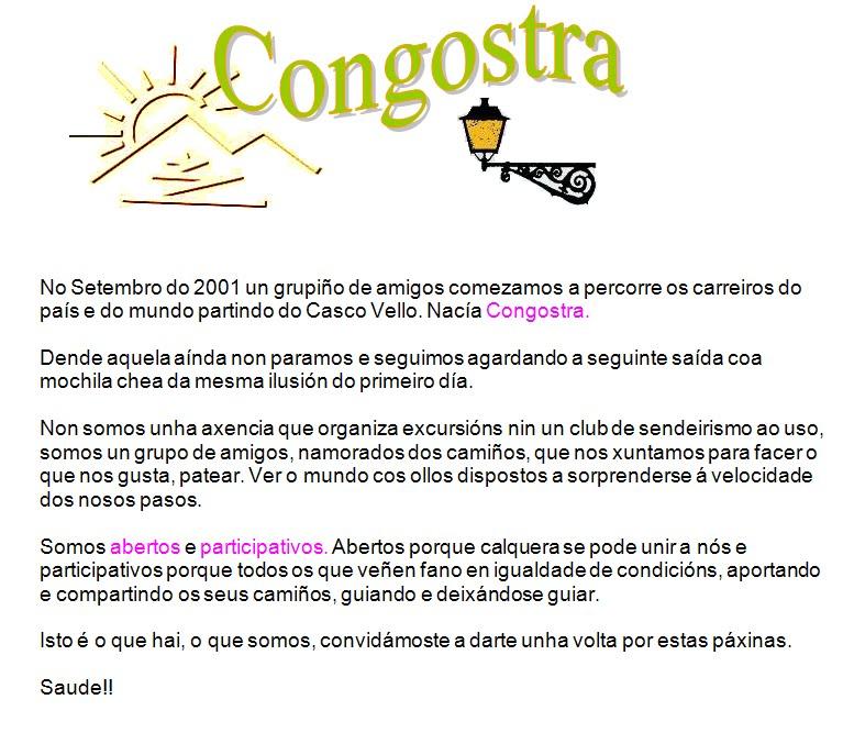 CONGOSTRA