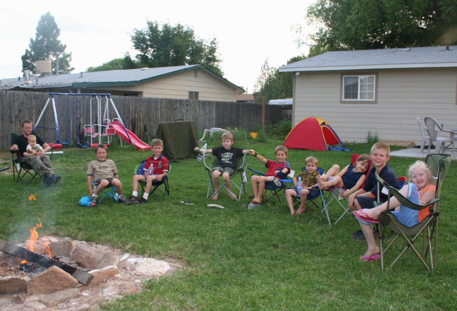 backyard campout party