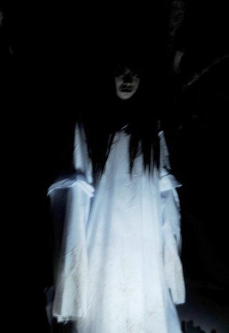 Ghost Lady in White Dress