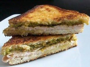 Turkey Pesto Grilled Cheese
