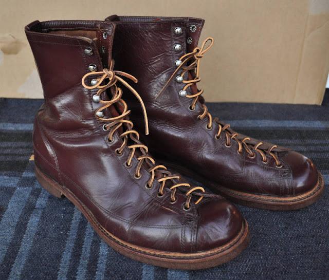 1940 S Endicott Johnson Lace To Toe Work Boots Rivet Head