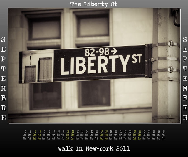 Calendar New York 2011 - 09 September 2011 - The Liberty Str