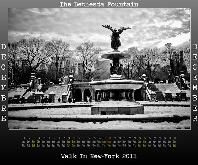 Calendar New York 2011 - 12 December 2011 - The Bethesda Fountain