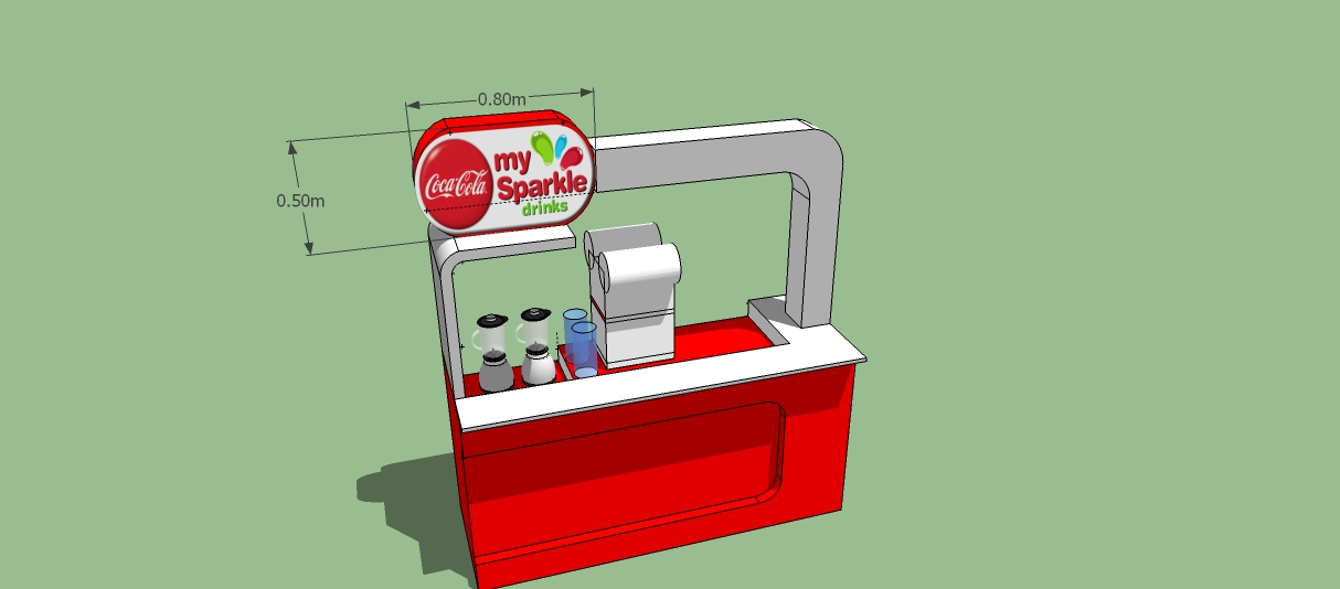 Booth Counter My Sparkle (Coca Cola) Bekasi Trade Center | Jasa