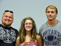 Pictured from left to right Justin Wall, Elizabeth Eiland, and Ham Barnett