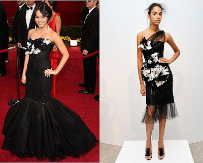Vanessa Hudgens Miley Cyrus Fashion on Red Carpet    Los Oscars 09   Vanessa Hudgens Vs Miley Cyrus