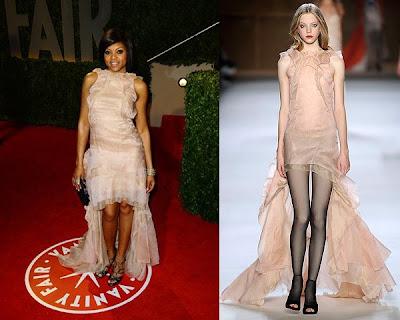 Oscars 2009 – Taraji P.Henson en la fiesta del Vanity Fair