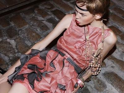eco friendly dress by nadia nour