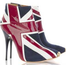 alexander mcqueen union jack booties