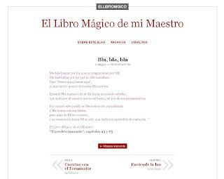 El Libro Mágico de mi Maestro: http://ellibromagico.wordpress.com