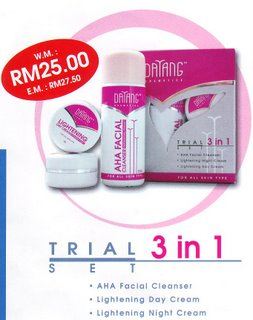 TRIAL 3 IN 1 SET : RM 25.00