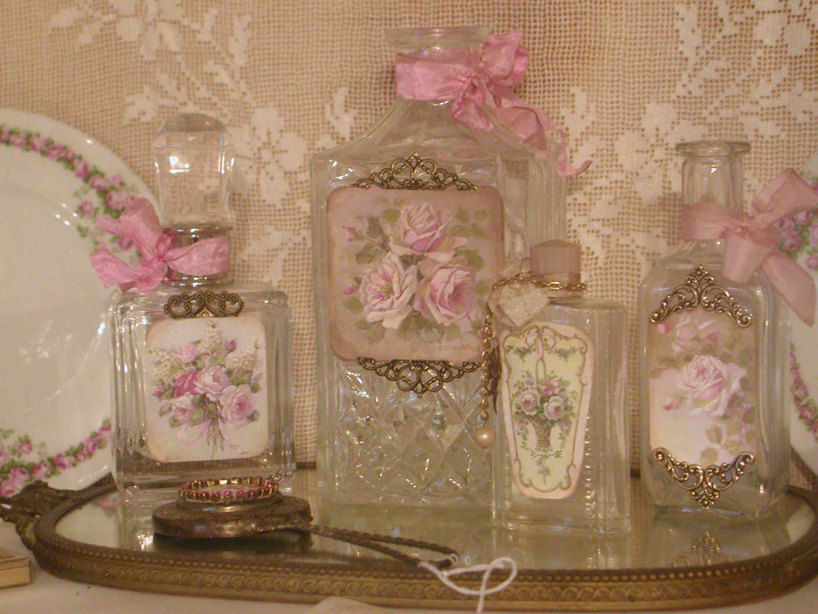 Chateau de fleurs french style perfume bottles - Decorar estilo shabby chic ...