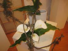 Ikebana con calas