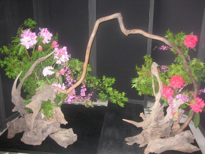 Ikebana a la entrada de la Corporación Cultural  El AUSTRAL