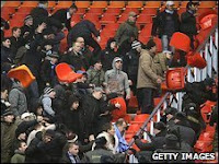 Fight In Moscow Russia: Spartak and Zenit Fans Rumble!