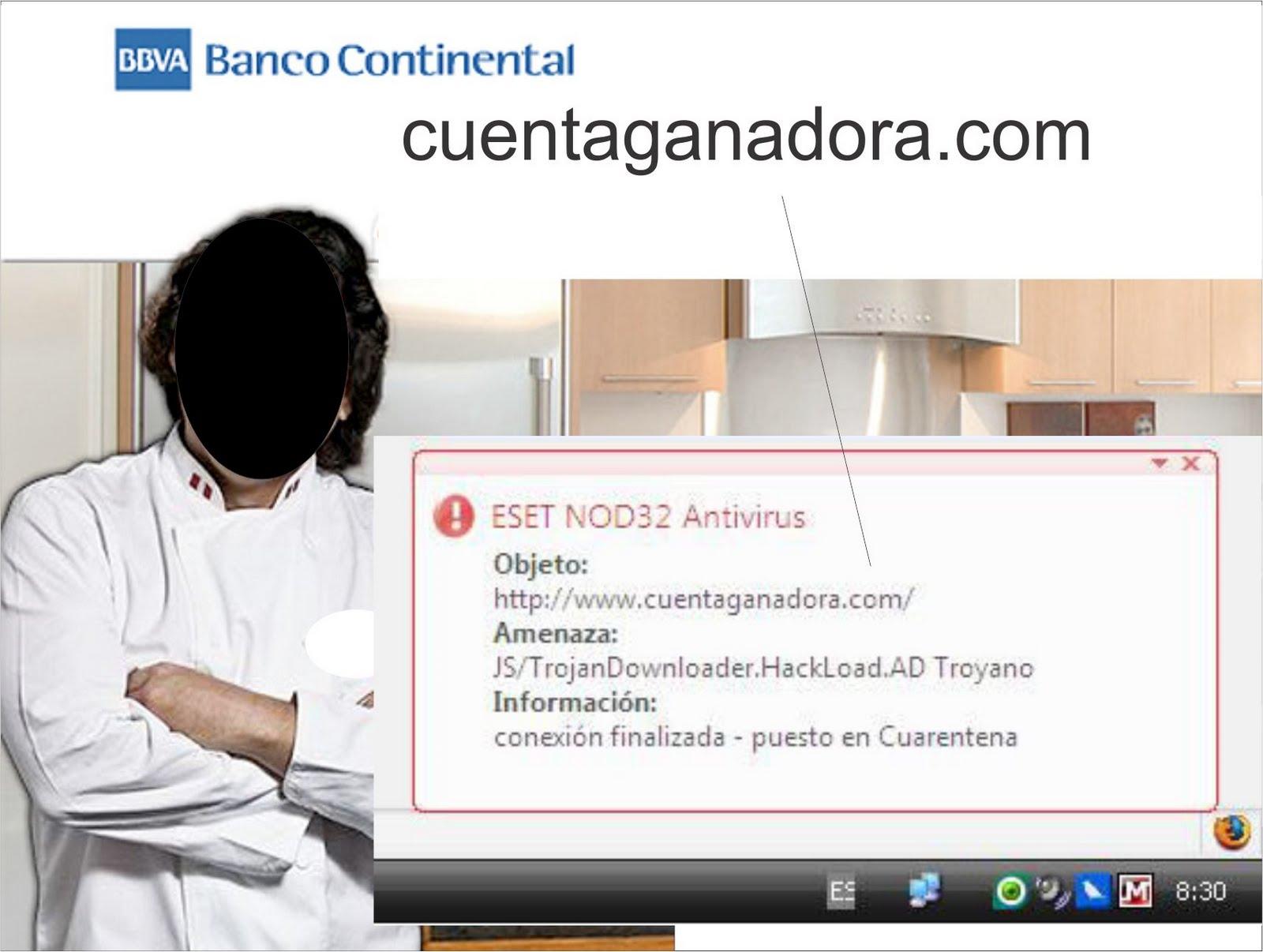 Alerta eset antivirus nod32 detecta troyano en website for Banco continental oficina principal