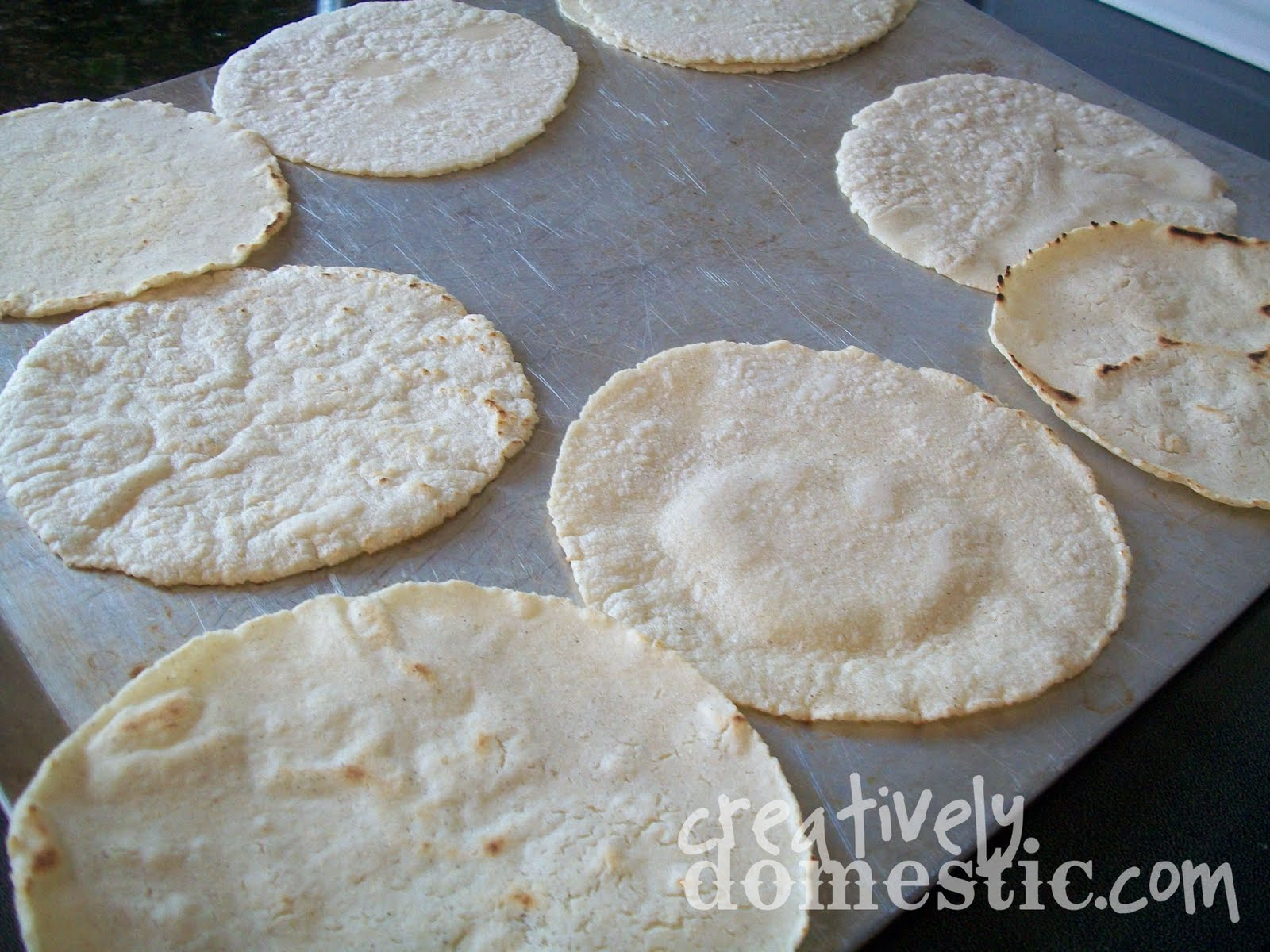 Creatively Domestic: Homemade Corn Tortillas