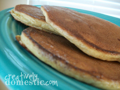 Creatively Domestic: Edna Mae's Sour Cream Pancakes from ...