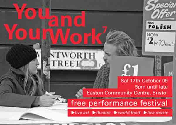 You and Your Work 7 Performance Festival Flyer, front