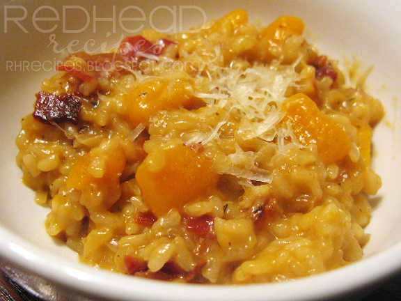 ... Recipes: Butternut Squash Risotto with Bacon and Caramelized Onions