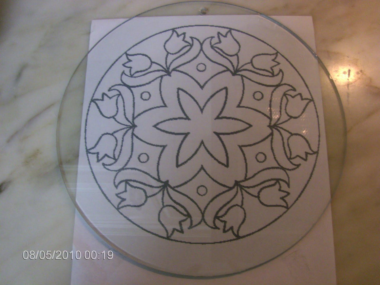 Arte em Vidro: Falso Vitral: Fazer o Desenho no Vidro #B76C14 1600x1200