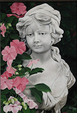 Statue with Pink Flowers