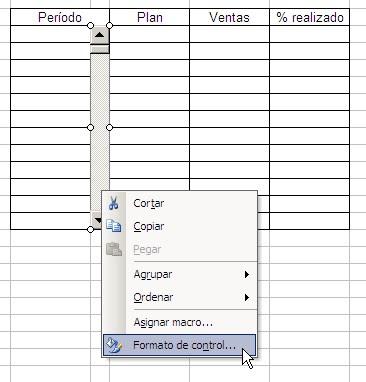 formulario del formato del control