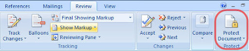 Set password on Office 2007