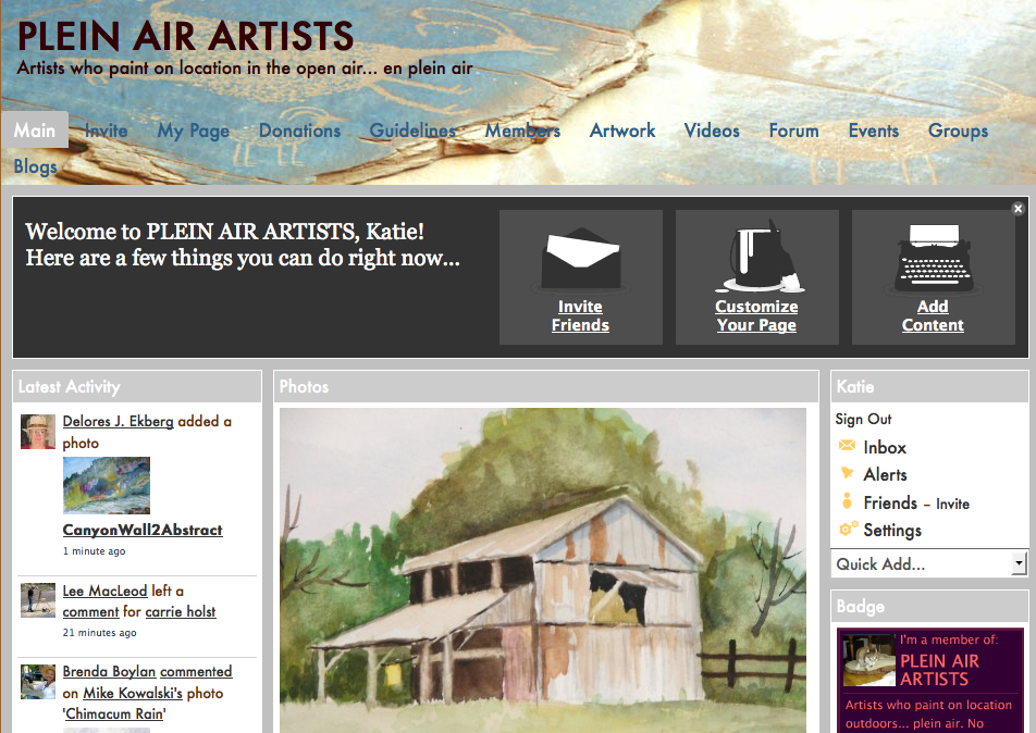 General Art Websites/ Blogs: Plein Air Artists: network for plein air or out