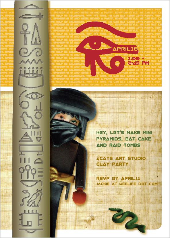 weelife Birthday Party Egyptian Theme – Egyptian Birthday Cards