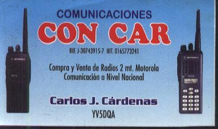 CONCAR  0416-5791743  PIN 2992306A