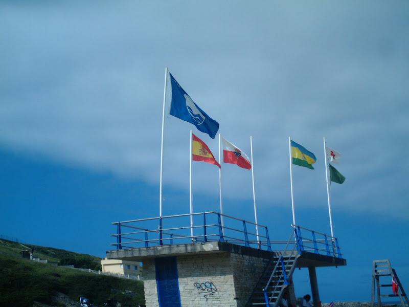 Banderas en Playa San Juan de la Canal