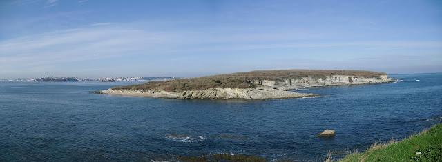 Isla de Santa Marina desde Loredo