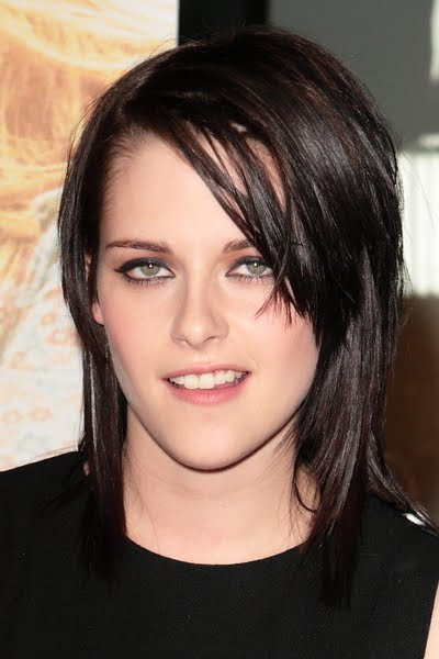 Kristen Stewart Short Hairstyles with Bangs Fine Hair 2010