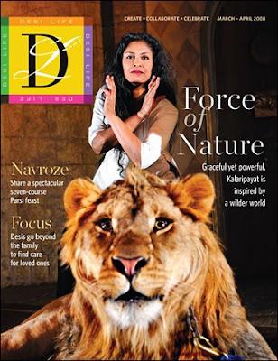 Cover model for Desi Life magazine-Gitanjali Kolanad